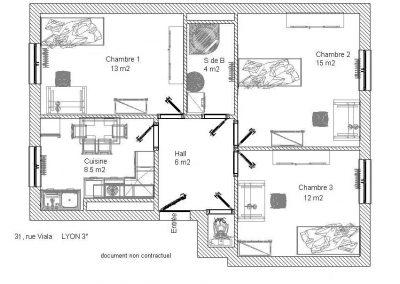 Plan 31bis rue Viala